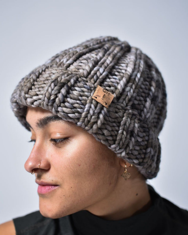ecologyst x Haro Beanie - Merino Wool - Sugar Bush Yarns - Natural fibres - Hand Knit - Ombre Grey