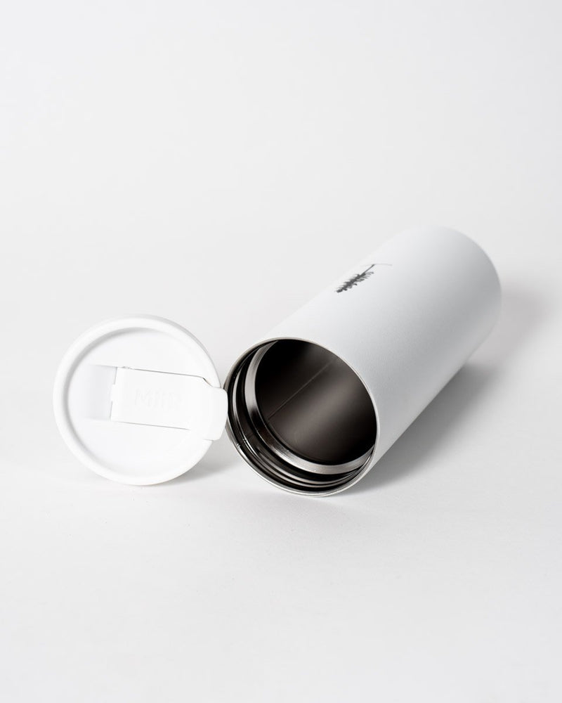 Miir x ecologyst - Travel tumbler - Tree logo - White