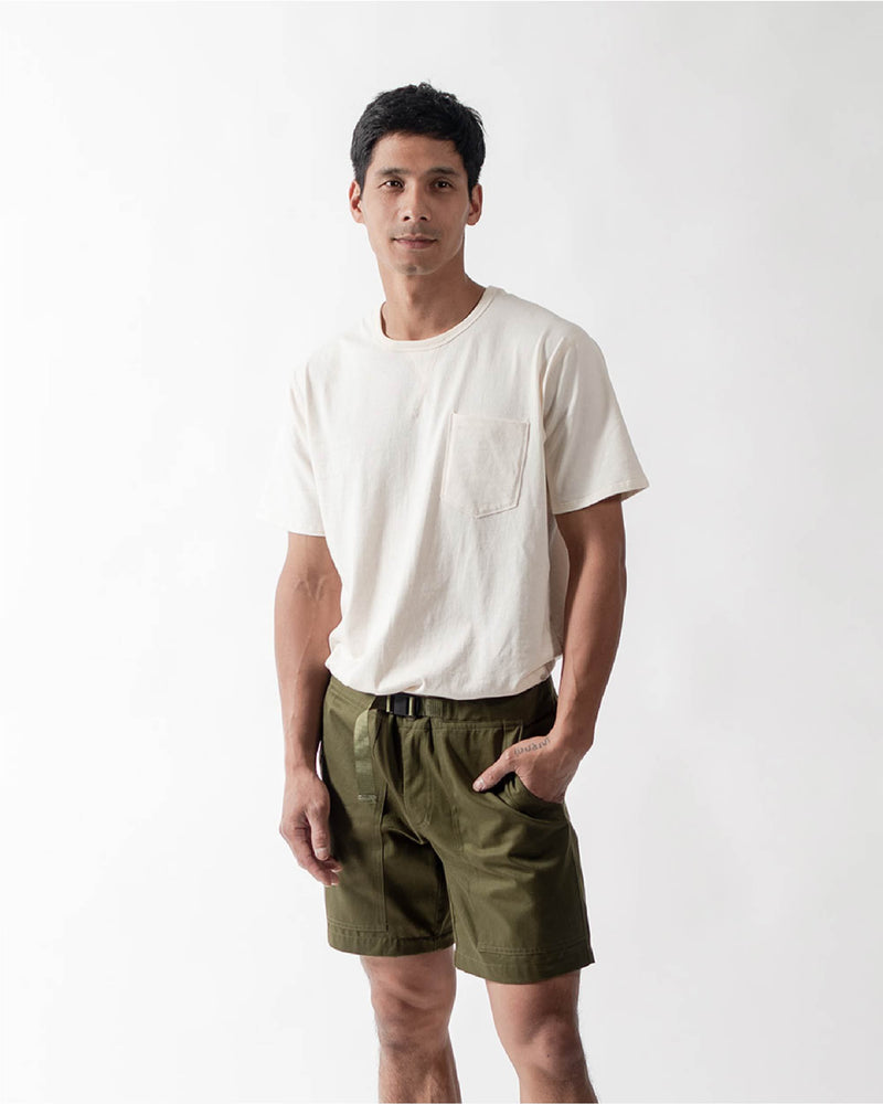 ecologyst Mens The Camp Short Organic Cotton Twill - Green