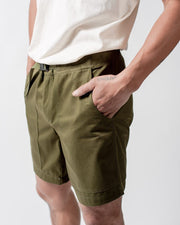 ecologyst Mens The Camp Short Organic Cotton Twill - Green #colour_green