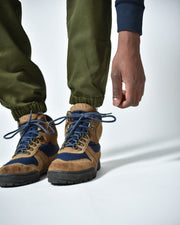 Mens The Hiking Pant in Green Ankle Detail #colour_green