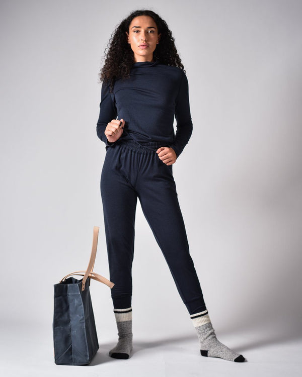 Sitka - ecologyst Womens Merino Wool Pants Sweats Sweatpants Cuffed Tree Embroidery Dusk Blue The 210 Merino Joggers