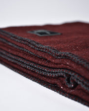 The Wool Utility Blanket in Burgundy Detail #colour_burgundy