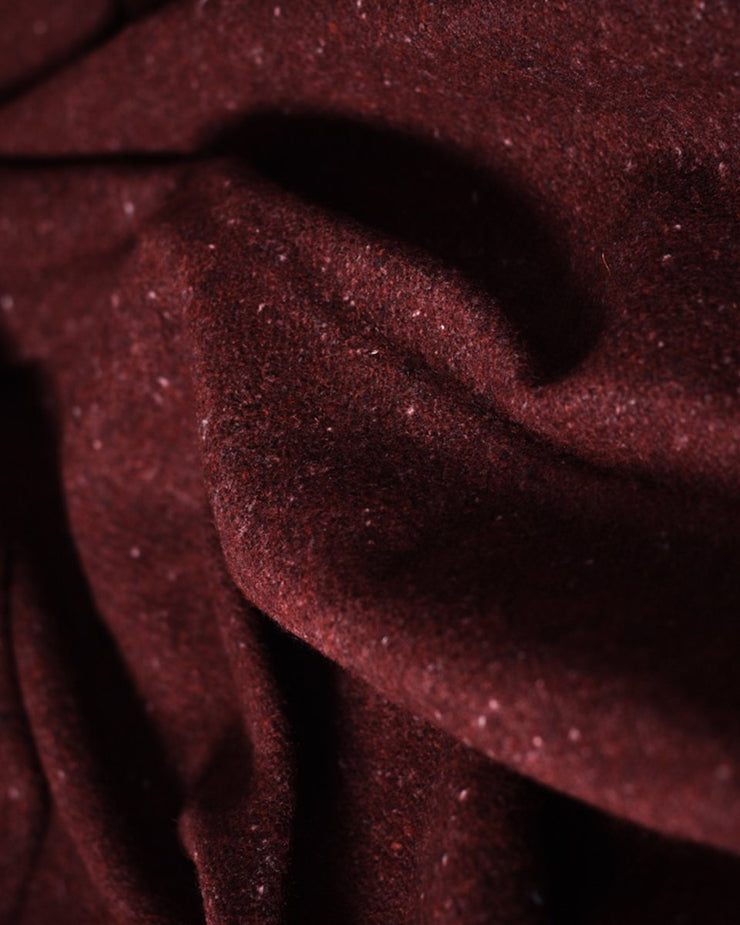 The Wool Utility Blanket in Burgundy Fabric Detail