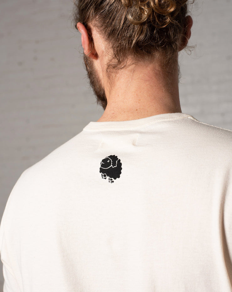 Suicide Sheep Heavyweight Tee in Natural - Back