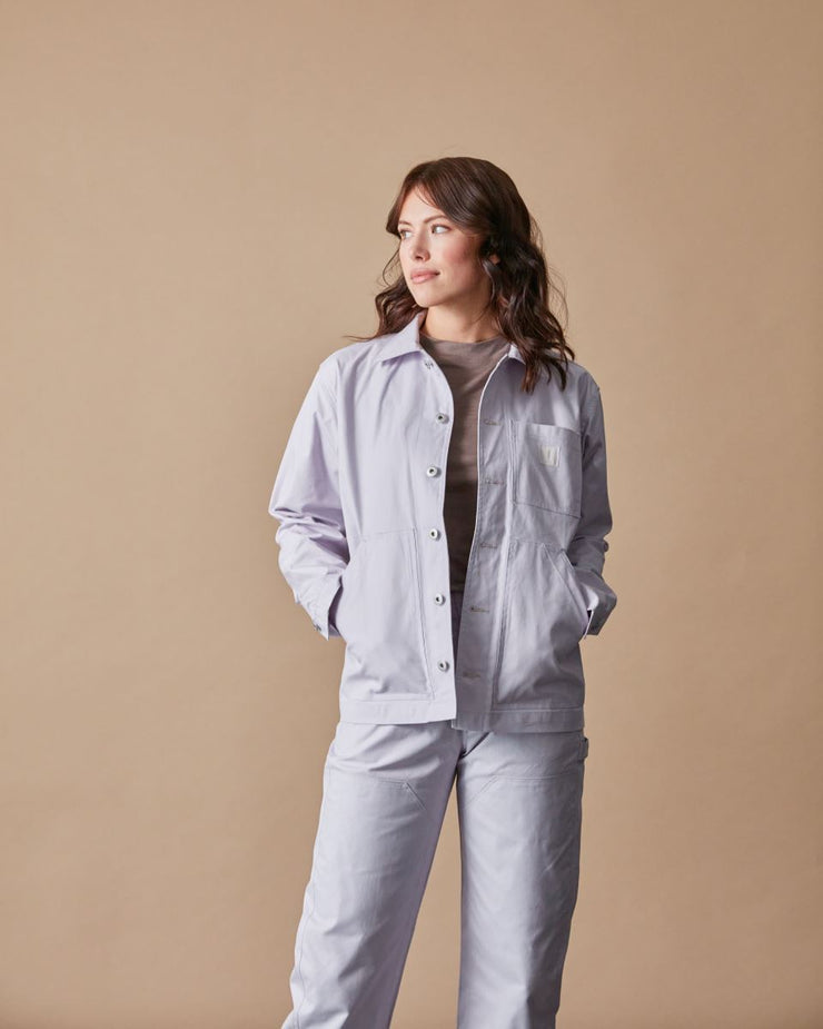 The Chore Coat in Lavender Front