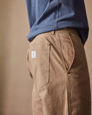 The Mens Work Pant in Hazelnut Close #colour_hazelnut