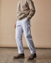 The Mens Work Pant in Lavender Side #colour_lavender