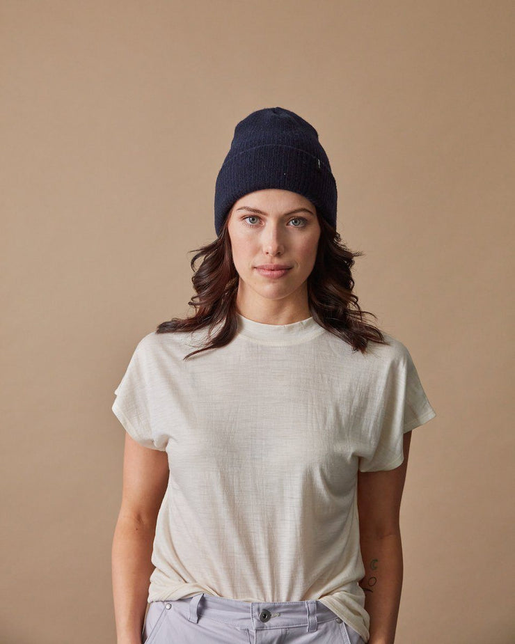 The Merino Cashmere Toque in Navy-Front