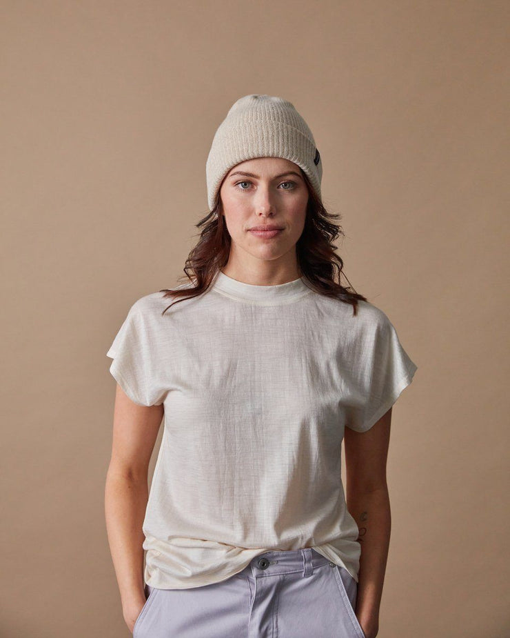 The Merino Cashmere Toque in Oat-Front