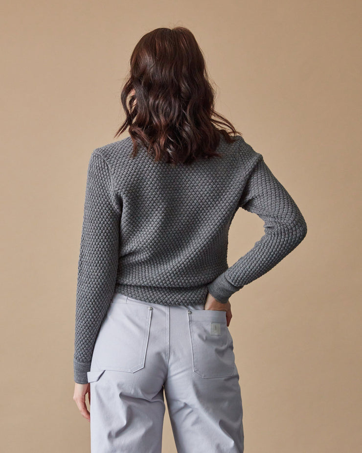 The Merino Sweater in Grey - Back2