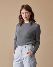The Merino Sweater in Grey - Front #colour_grey