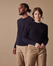 The Merino Sweater in Navy - Gender-Neutral #colour_navy