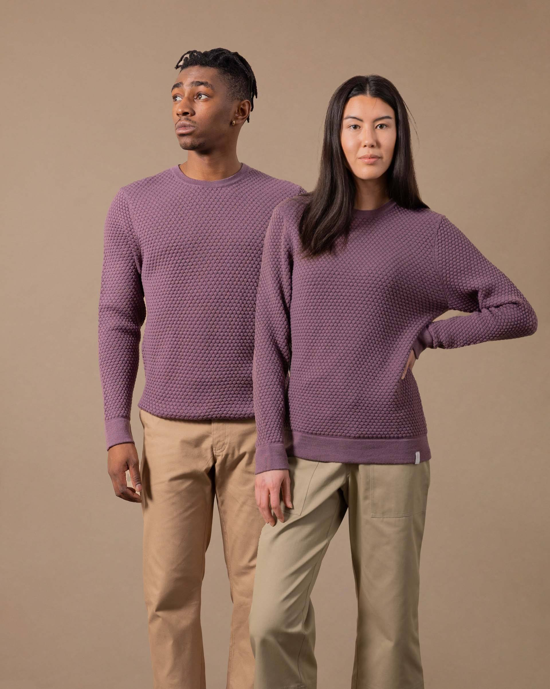 The Merino Sweater in Plum - Gender-Neutral #colour_plum