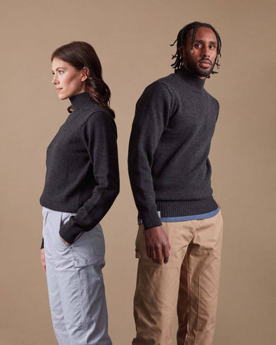 The Merino Sweater in Charcoal - Gender-Neutral #colour_charcoal
