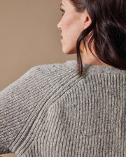 The Port Cardigan Speckled Oat Close Up #colour_speckled-oat
