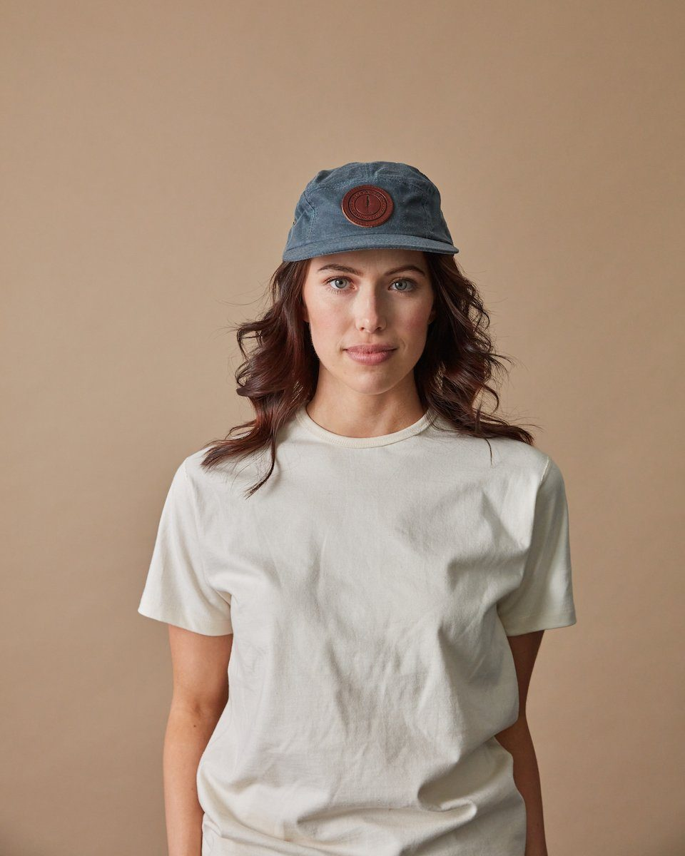 The Sitka Camp Cap in Slate Blue Front  #colour_slate-blue