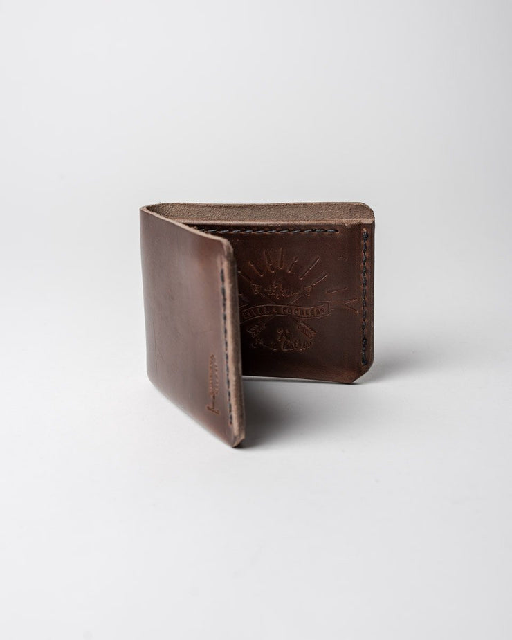 ecologyst x Populess Walter Wallet in Rustic Brown Detail