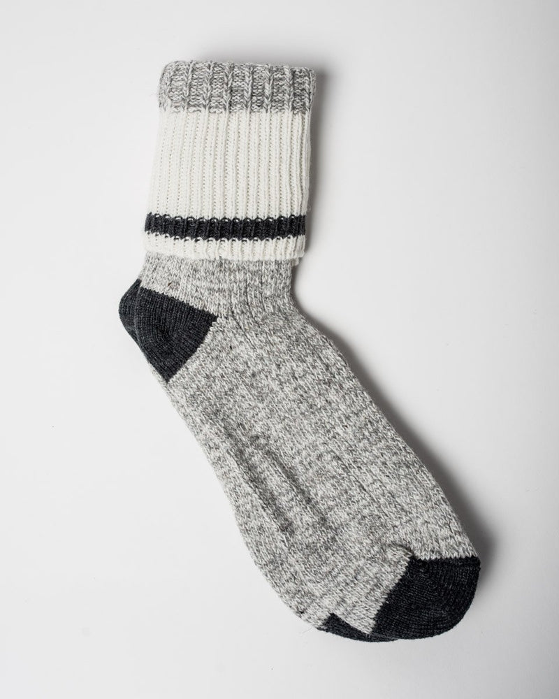 The Woolies Sitka Duray Socks Made in Canada Wool Blend - Black
