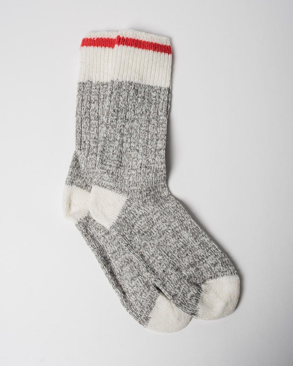 The Woolies Sitka Duray Socks Made in Canada Wool Blend - Red