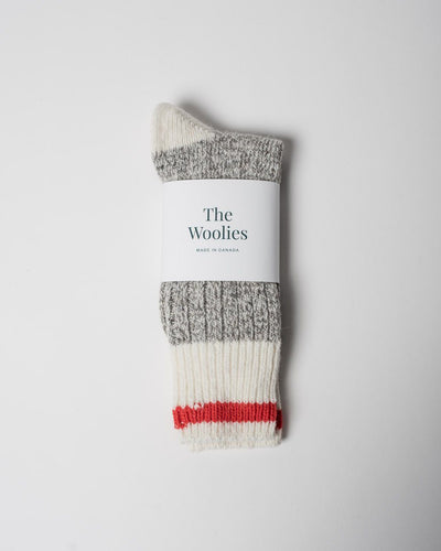 The Woolies Socks in Red #colour_red