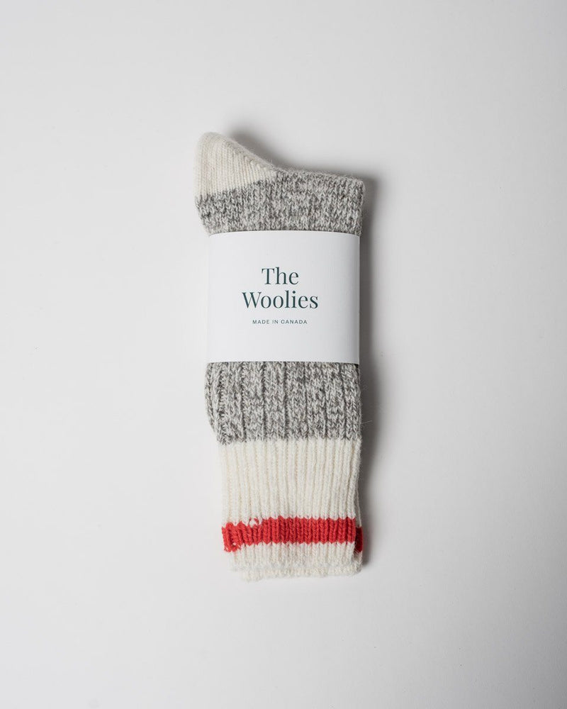 The Woolies Sitka Duray Socks Made in Canada Wool Blend - Red - ecologyst - sitka