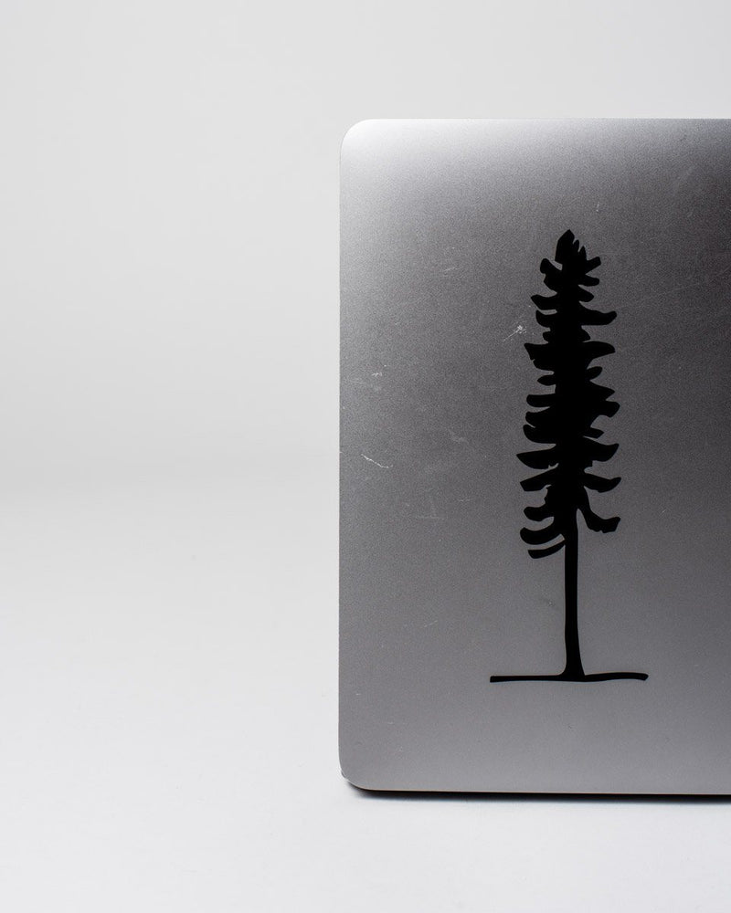 The ecologyst tree Sticker - Black