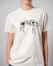 Gender Neutral The 1200 Wolf Tee in Natural Front #colour_natural