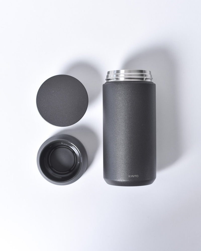 Kinto - 350ml - Travel Tumbler - To Go - Stainless Steel - Insulated - Black