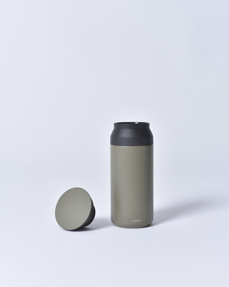 Kinto - 350ml - Travel Tumbler - To Go - Stainless Steel - Insulated - Khaki