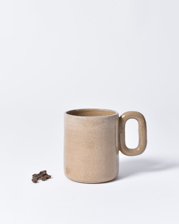 ecologyst x Pinto Projects - Ceramic mug - Chain mug - Made in Canada BC - Sand