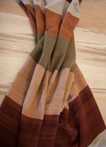Serape Clay Band Wool Blanket