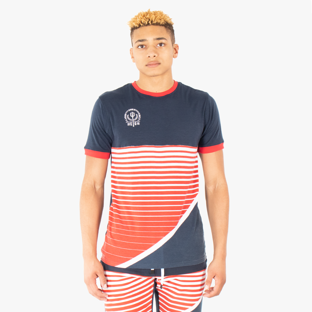elbowgrease MARITIME // Crew Neck Knit Short Sleeve Top