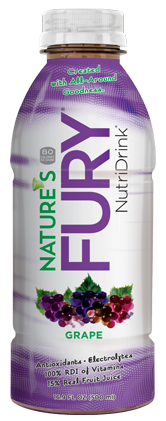 Nature's Fury® Nutri Drink® - Grape - 12pack Case