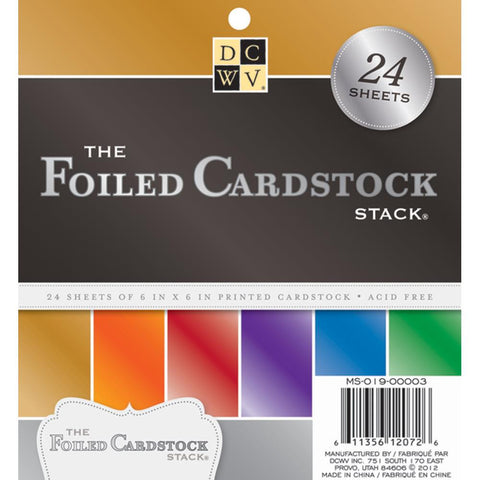 Die Cuts With A View - The Foiled Cardstock Stack - 24 Sheets 6x6 - Hallmark Scrapbook