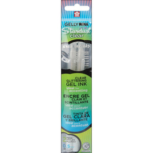 Gelly Roll - Medium Point Pen set 2pc - STARDUST Clear Glittering Gel Ink - Hallmark Scrapbook