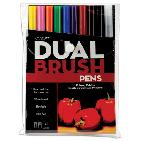 Tombow Dual Brush Pen Set - PRIMARY - Hallmark Scrapbook