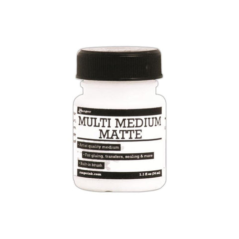 Ranger  - Multi Medium Matte 1.1oz JAR - Hallmark Scrapbook - 1