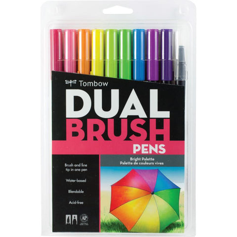 Tombow Dual Brush Pen Set - BRIGHT - Hallmark Scrapbook