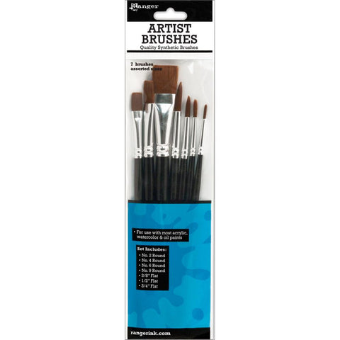Ranger - ARTIST BRUSHES SET - 7 brushes - Hallmark Scrapbook