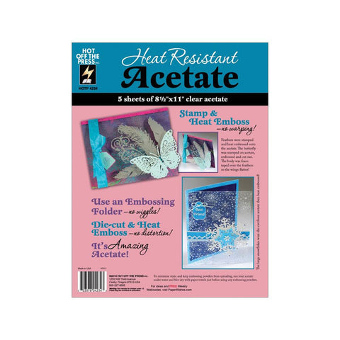 Hot Off the Press - HEAT RESISTANT ACETATE - 5 pk - Hallmark Scrapbook