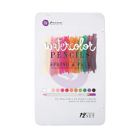 Prima Watercolor Pencils - SPRING and FALL 12pc Set - Hallmark Scrapbook - 1