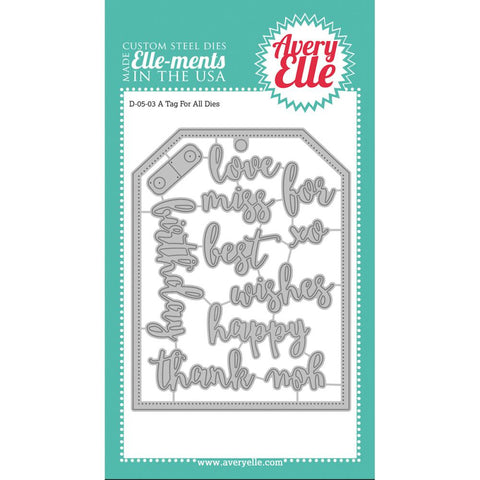 Avery Elle - A TAG FOR ALL Elle-Ments Die Set  - 8 pc - Hallmark Scrapbook - 1