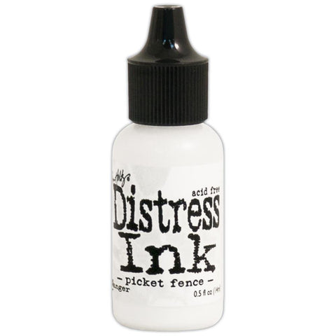 Tim Holtz Ranger Distress Pigment Refill - PICKET FENCE white ink - Hallmark Scrapbook