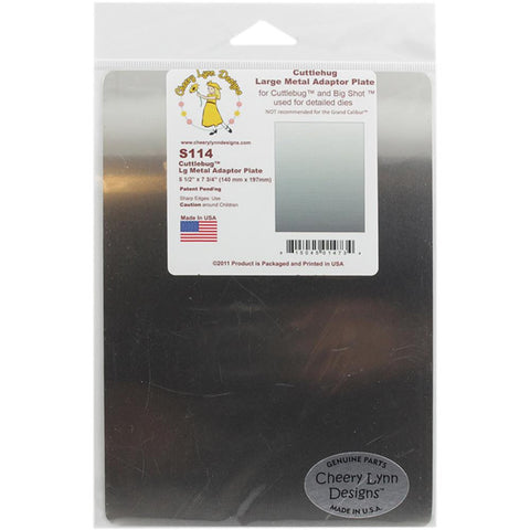 Cheery Lynn Designs - LARGE METAL Adapter PLATE For Cuttlebug & Big Shot - Hallmark Scrapbook - 1