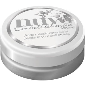 Nuvo Embellishment MOUSSE - PLATINUM - By Tonic Studio - Hallmark Scrapbook - 1