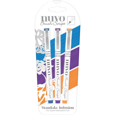 Nuvo Brush Script Pens - MANDALA INFUSION - (Water Based) by Tonic