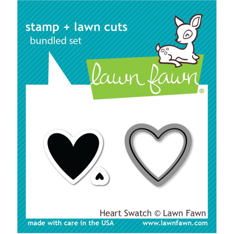 Lawn Fawn - HEART SWATCH - Clear STAMP and DIE