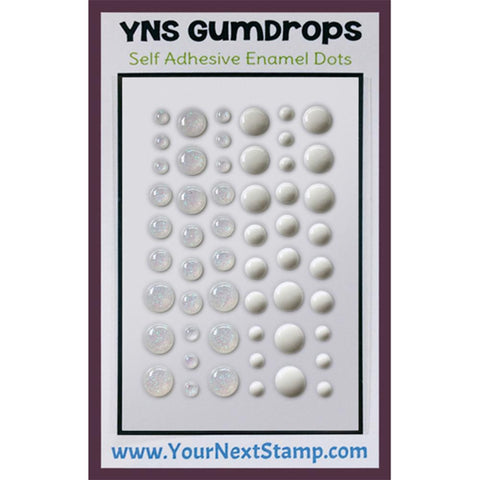 Your Next Stamp - Self Adhesive Enamel Dots - WHITE SUGAR