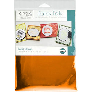 "Therm-O-Web - Gina K Fancy Foil - SWEET MANGO - 6""x8"" 12 Sheets"
